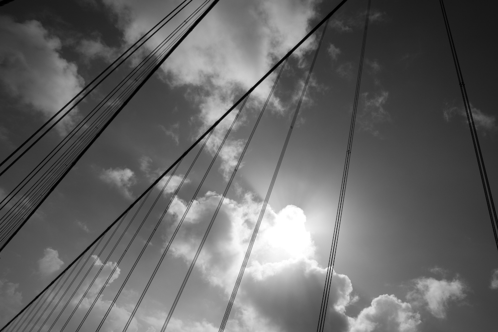 Bridge Wires and Clouds- San Francisco