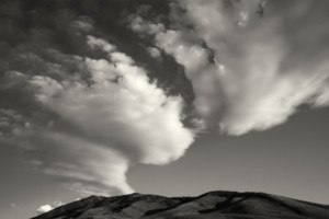 Couds and mountains- Death Valley