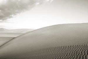 Dune and Clouds- Death Valley