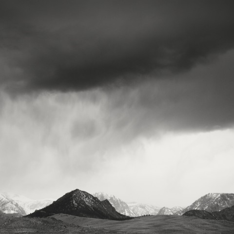 Mountain Range with Storm- Death Valley