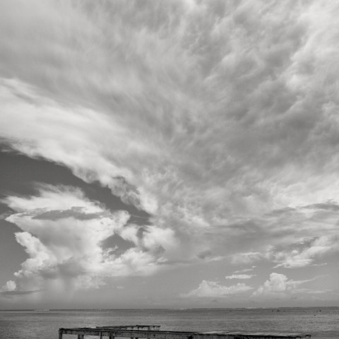 Pier and Clouds- Moorea