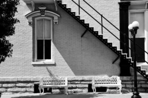 Stairs and Lamp Post