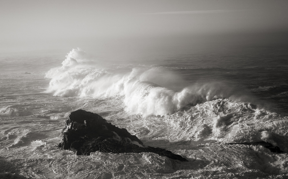 Storm Surf Over Rocks- Big Sur