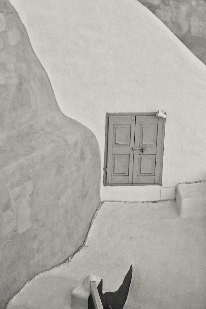 Wall Detail with Window- Santorini