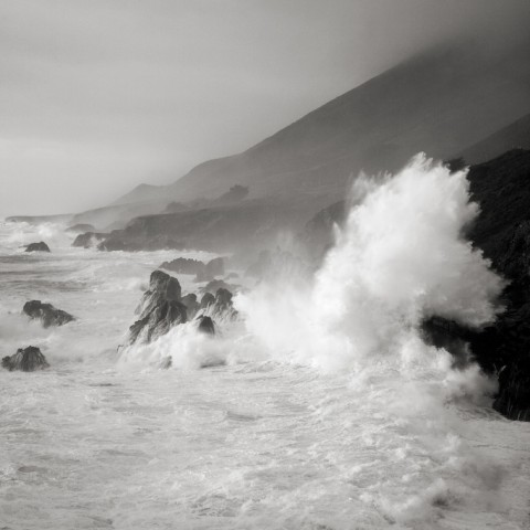 Wave Burst - Big Sur Coast
