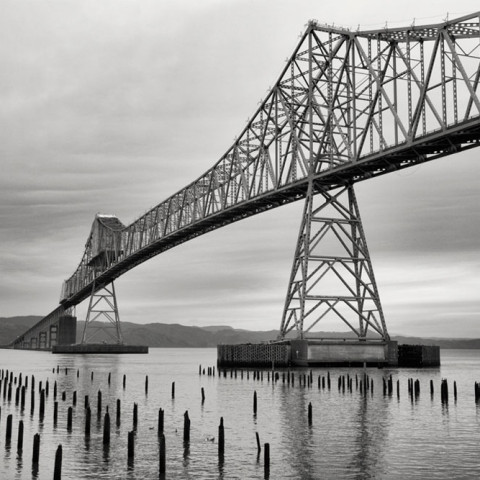 Bridge and Pilings, Oregon, 2015
